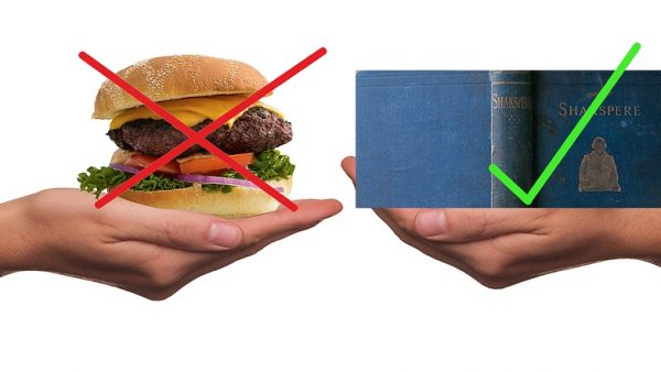 Skip the burger – buy a book
