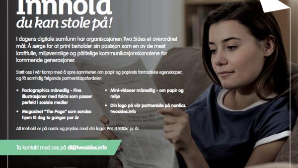07 Media og Merkur Grafisk første norske Two Sides-partnere