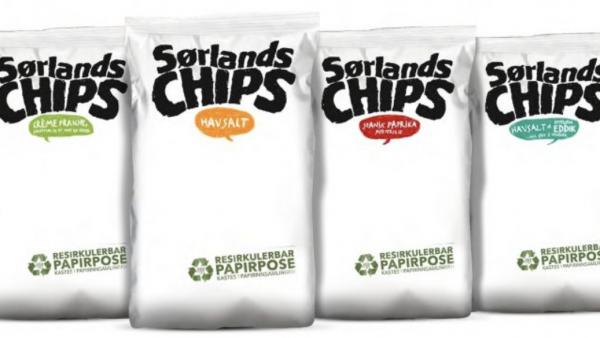 Chipsprodusent bytter fra plast til papir