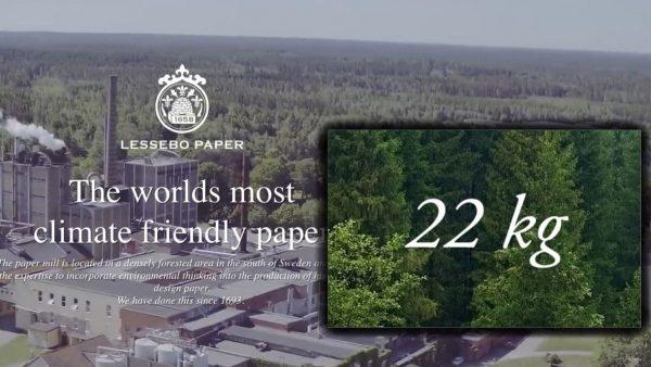 Så låg miljöpåverkan kan papper ha – Lessebo visar vägen